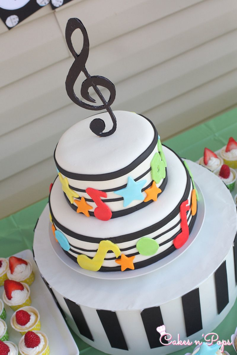 Music Birthday Cakes Music Theme Birthday Cake Cakes Pastries Pinterest Music