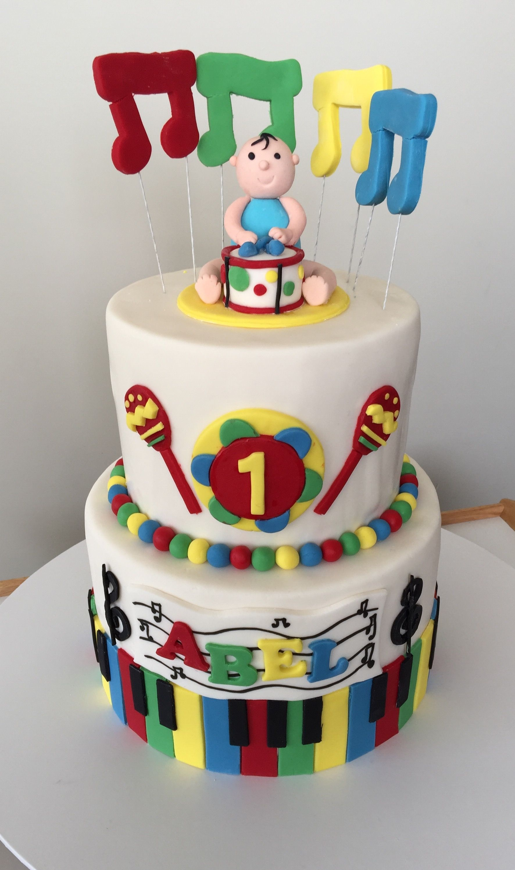 Music Birthday Cakes Musical Instrument Cake Birthday Pinterest Birthday Cake And