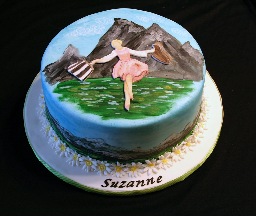 Music Birthday Cakes Sound Of Music Birthday Cake A Birthday Cake For A Friend Flickr