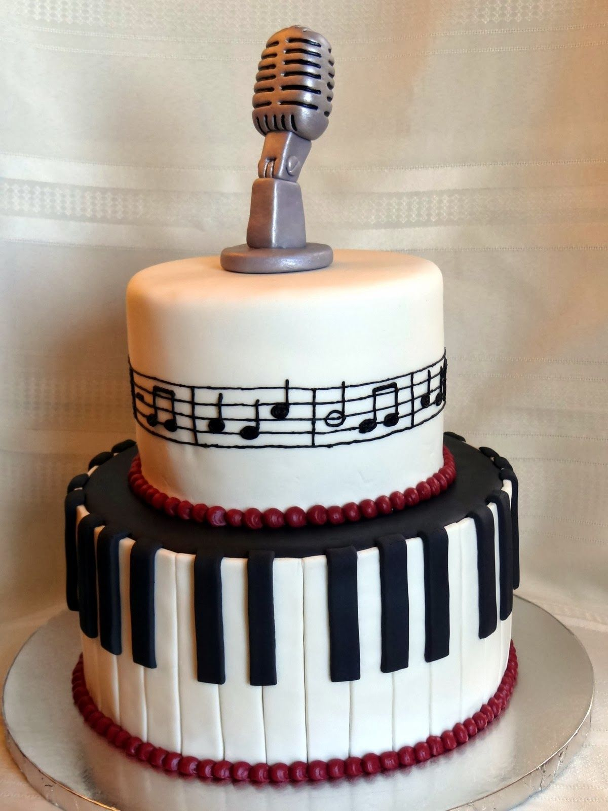 Music Birthday Cakes Tiers Of Joy Cakery Music Cake With Keyboard Microphone Music