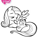 My Little Pony Coloring Pages My Little Pony Fluttershy With A Rabbit Coloring Page My Little