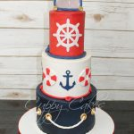 Navy Birthday Cake Mariner Navy Style Cake In Red White And Blue Birthday Cakes