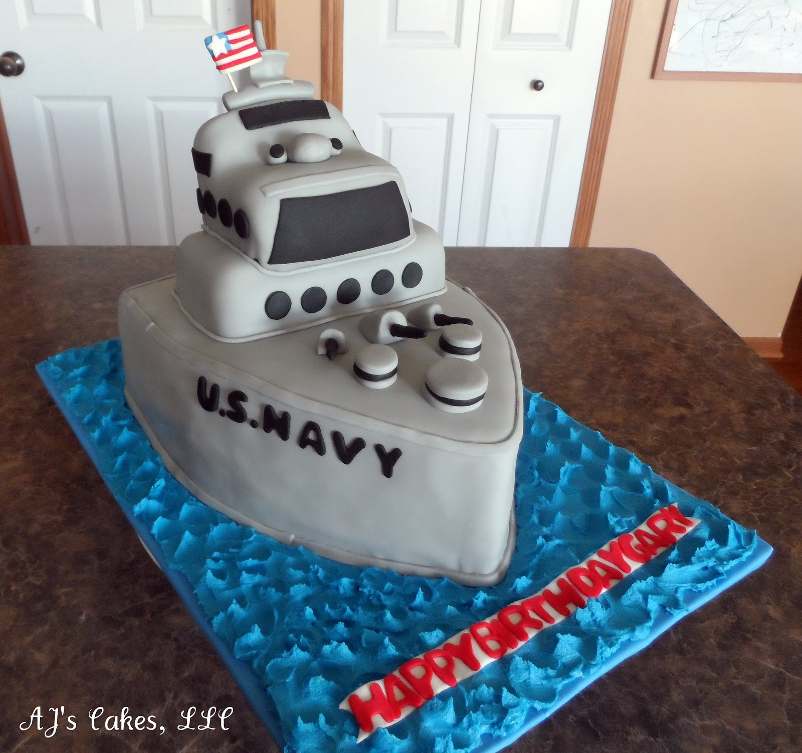 30 Amazing Image of Navy Birthday Cake