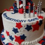 Navy Birthday Cake Red White And Navy Birthday Cake Cakecentral