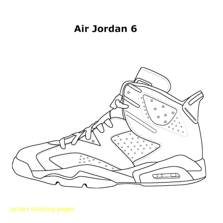 Nike Coloring Pages Awesome Jordan Shoe Coloring Pages Free Download At Shoes Bertmilne