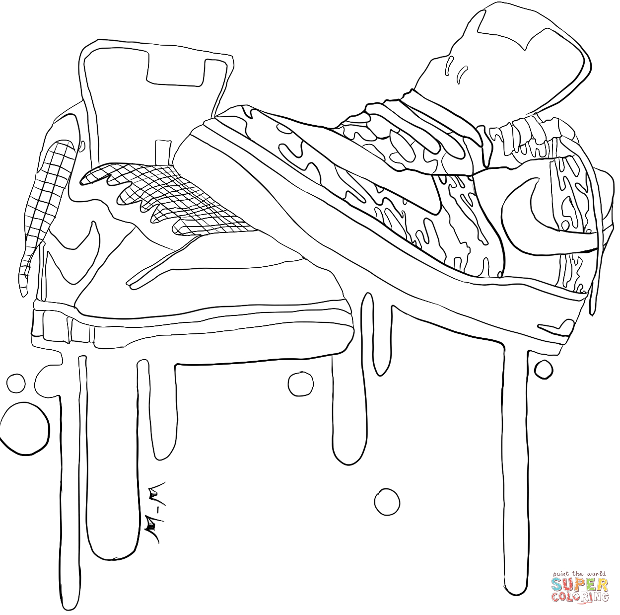 27+ Great Photo of Nike Coloring Pages