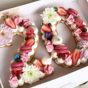 Number Birthday Cakes 20th Number Cake Number Cakes Pinterest Cake Desserts And