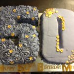 Number Birthday Cakes Number 50 Birthday Cake Purple And Gold Buttercream Rose Swirls