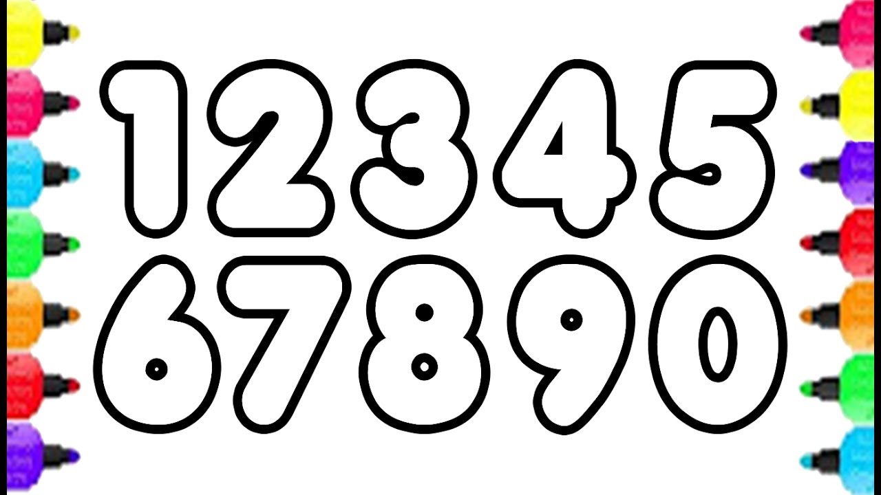 Inspired Picture of Numbers Coloring Pages