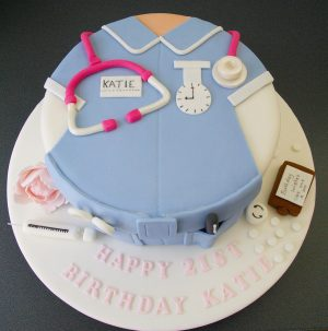 Nurse Birthday Cake Nurse Cake Nurses Uniform 21st Birthday My Bakes Cake 21st