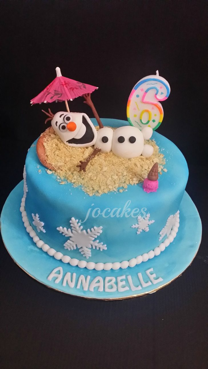 Olaf Birthday Cake Disney Theme Frozen Olaf And Elmo Cake For Sibling Brayden And