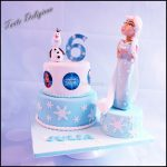 Olaf Birthday Cake Elza And Olaf Birthday Cake Cakecentral