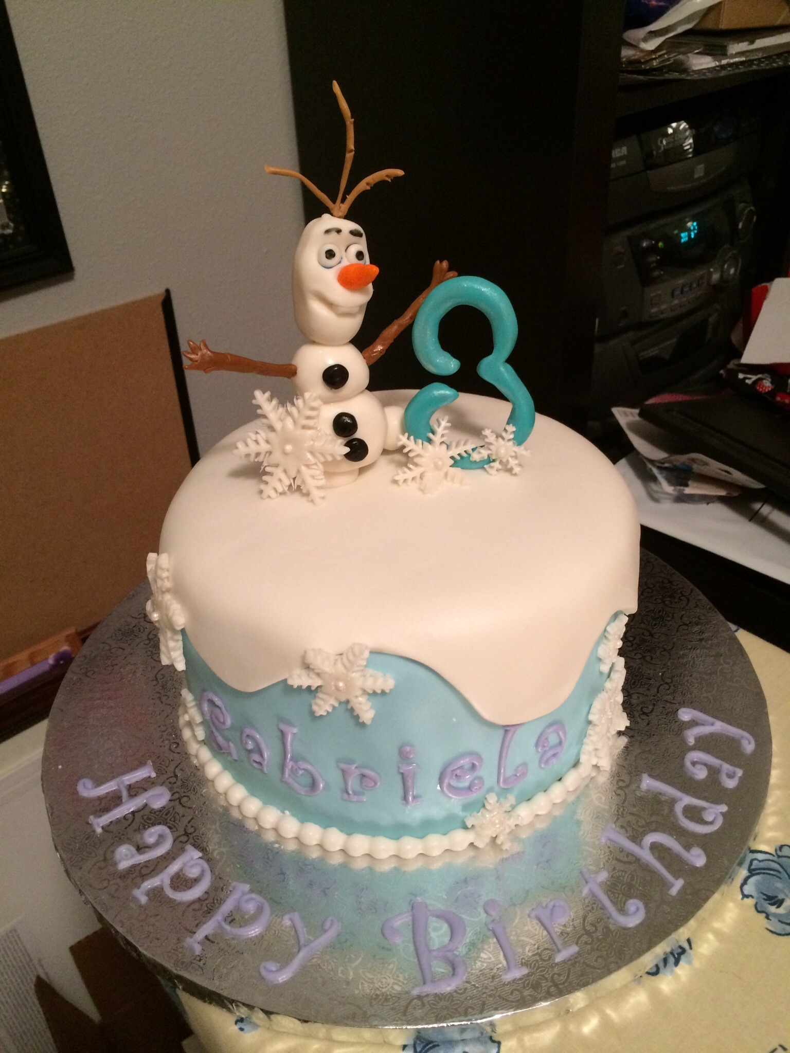 Olaf Birthday Cake Frozen Birthday Cake Decorating Photos