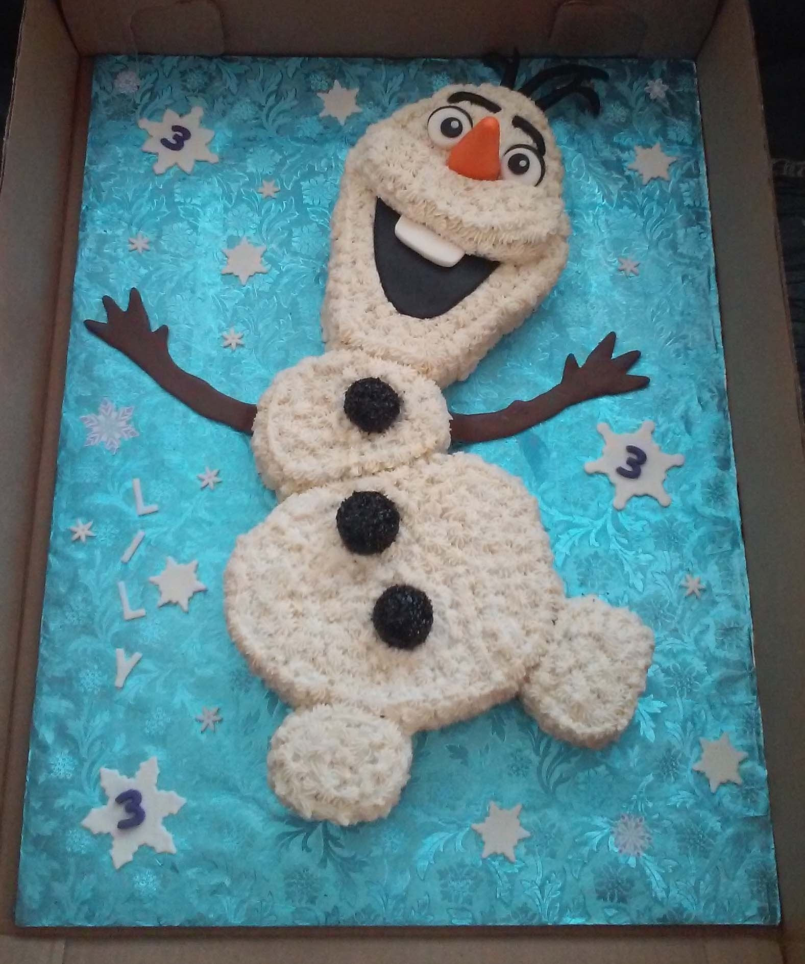 Olaf Birthday Cake Frozen Olaf Themed Birthday Cake Cakecentral