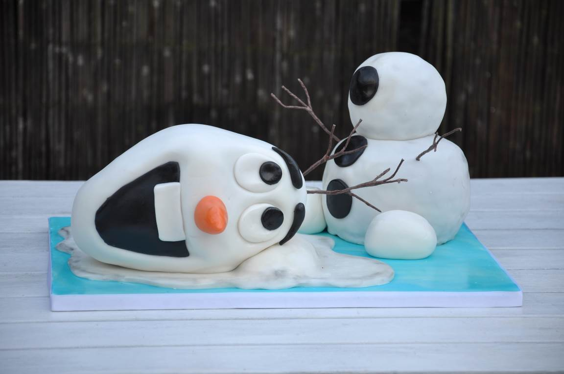 Olaf Birthday Cake How To Make A Frozen Olaf Birthday Cake Partyrama Blog