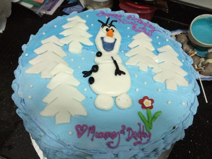 Olaf Birthday Cake Nicole And Rachel Olaf Birthday Party Cake Poetry