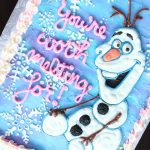 Olaf Birthday Cake Olaf Cake How To Make An Easy Buttercream Olaf Birthday Cake Youtube