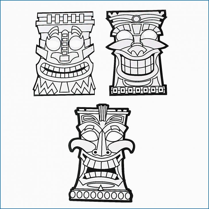 Oriental Trading Coloring Pages Tiki Coloring Pages Good Color Your Own Tiki Masks Oriental Trading