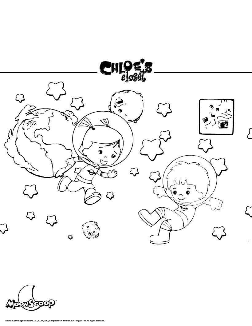 Outer Space Coloring Pages Chloes In Outerspace Coloring Pages Hellokids
