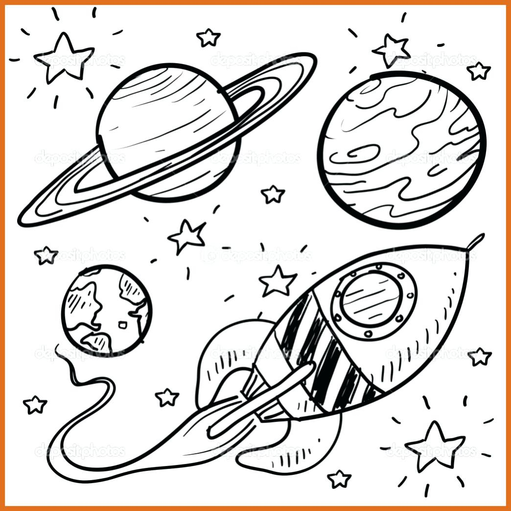 Outer Space Coloring Pages Free Solar System Coloring Pages With