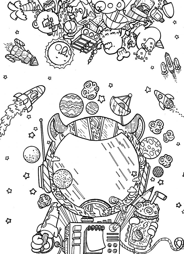 Outer Space Coloring Pages Outer Space Coloring Page Telematik Institut