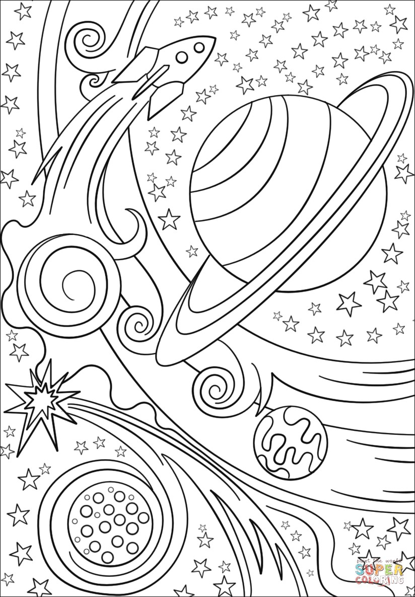 Outer Space Coloring Pages Outer Space Coloring Pages Topsailmultimedia