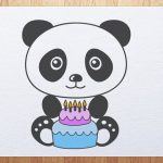Panda Birthday Cake How To Draw Panda With Birthday Cake Youtube