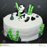 Panda Birthday Cake Panda Bears Fondant Birthday Cake Stock Photo 46679046 Megapixl