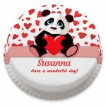 Panda Birthday Cake Personalised Panda Themed Birthday Cake From 1499 Bakerdays