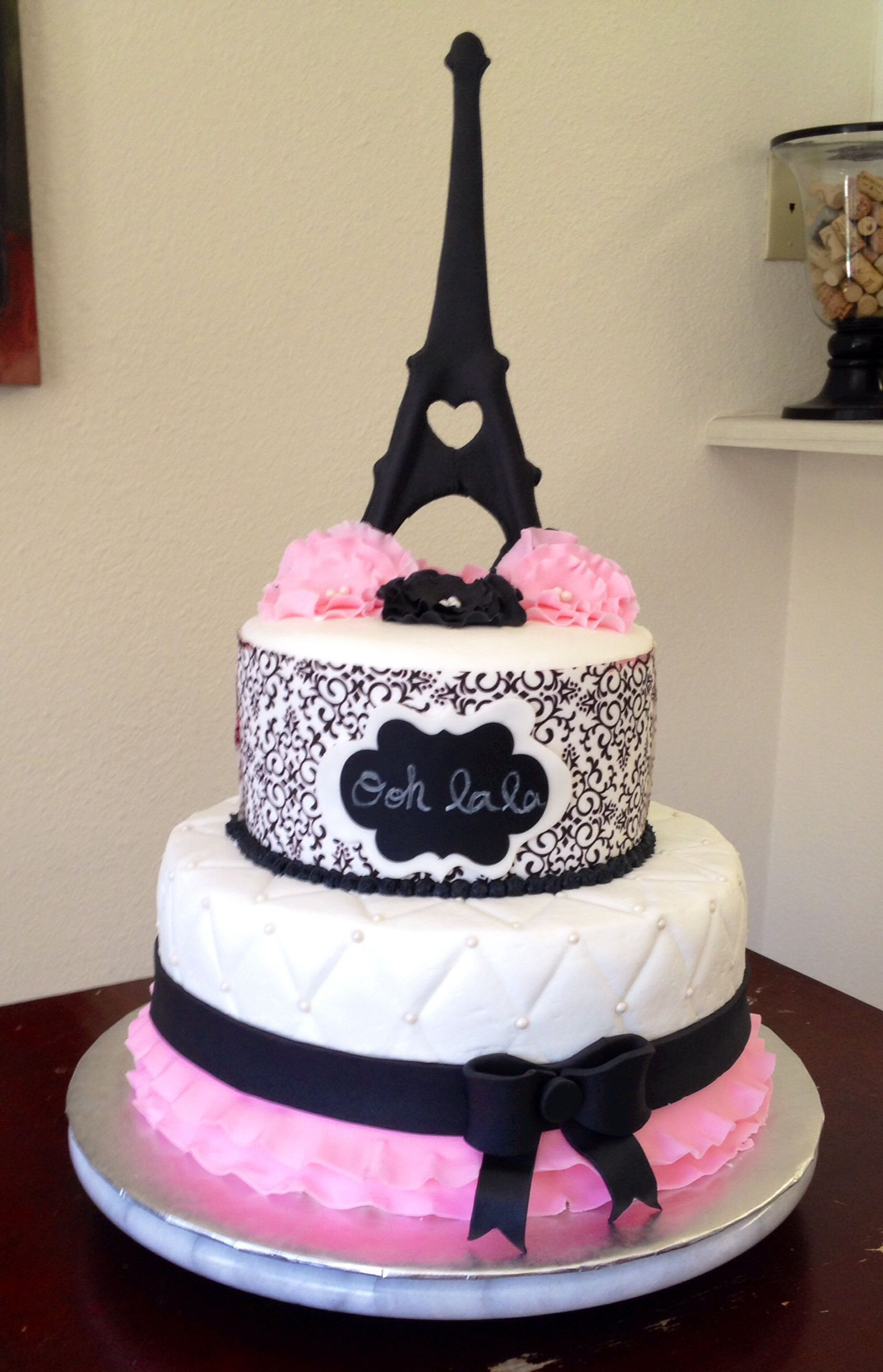 Paris Birthday Cake Como Fazer Bolo De Aniversrio Tema Paris Beautifulamazing Cakes