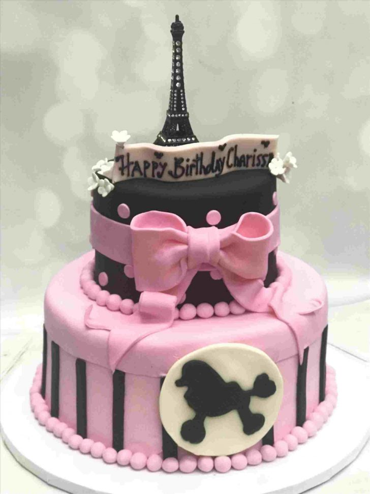 Paris Birthday Cake Make A Paris Ruffle Style Youtuberhyoutubecom Make Pink Eiffel Tower