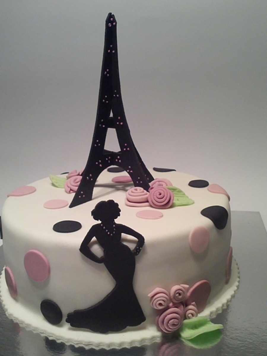 Paris Birthday Cake Paris Birthday Cake For My Daughter Cakecentral