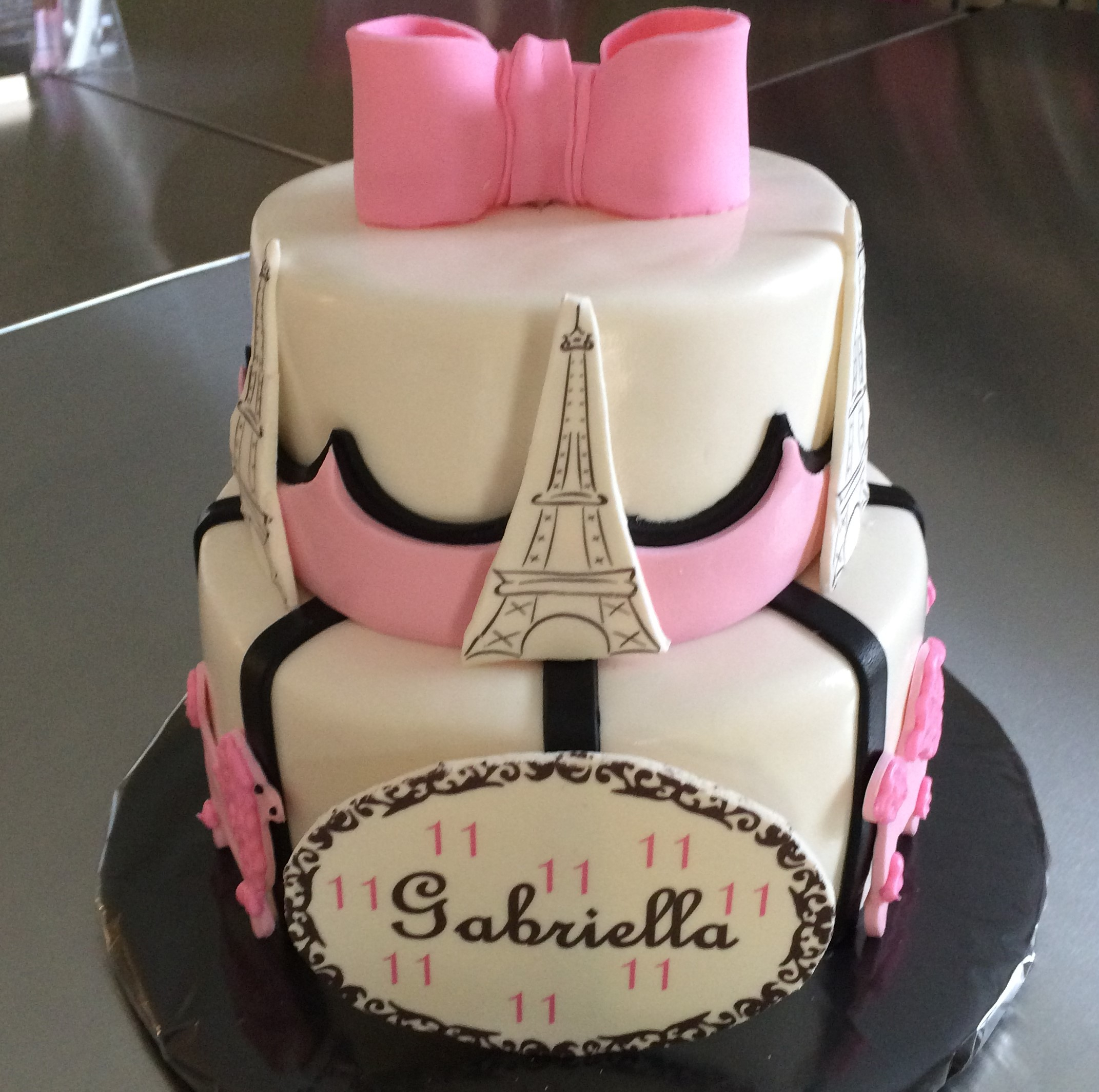 Paris Birthday Cake Paris Birthday Cake