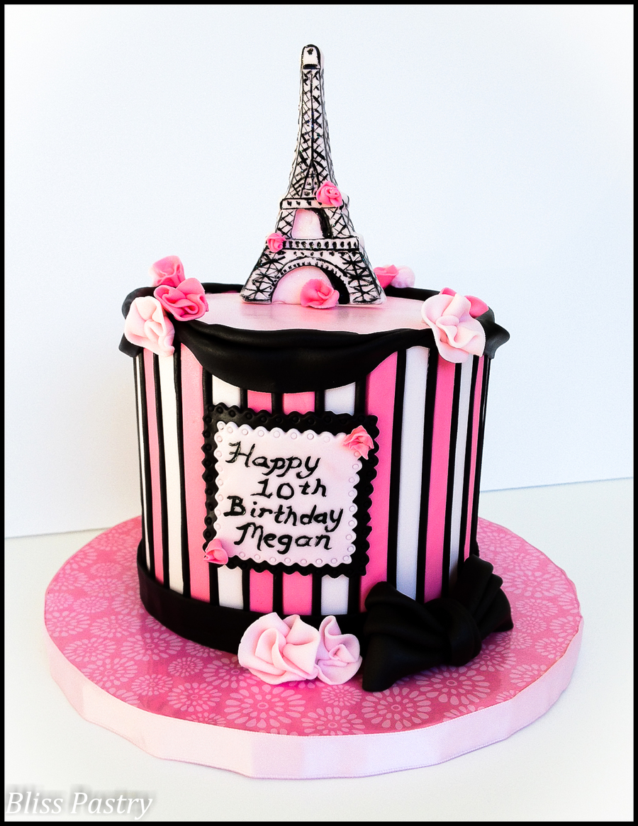 Paris Birthday Cake Paris Birthday Cakecentral