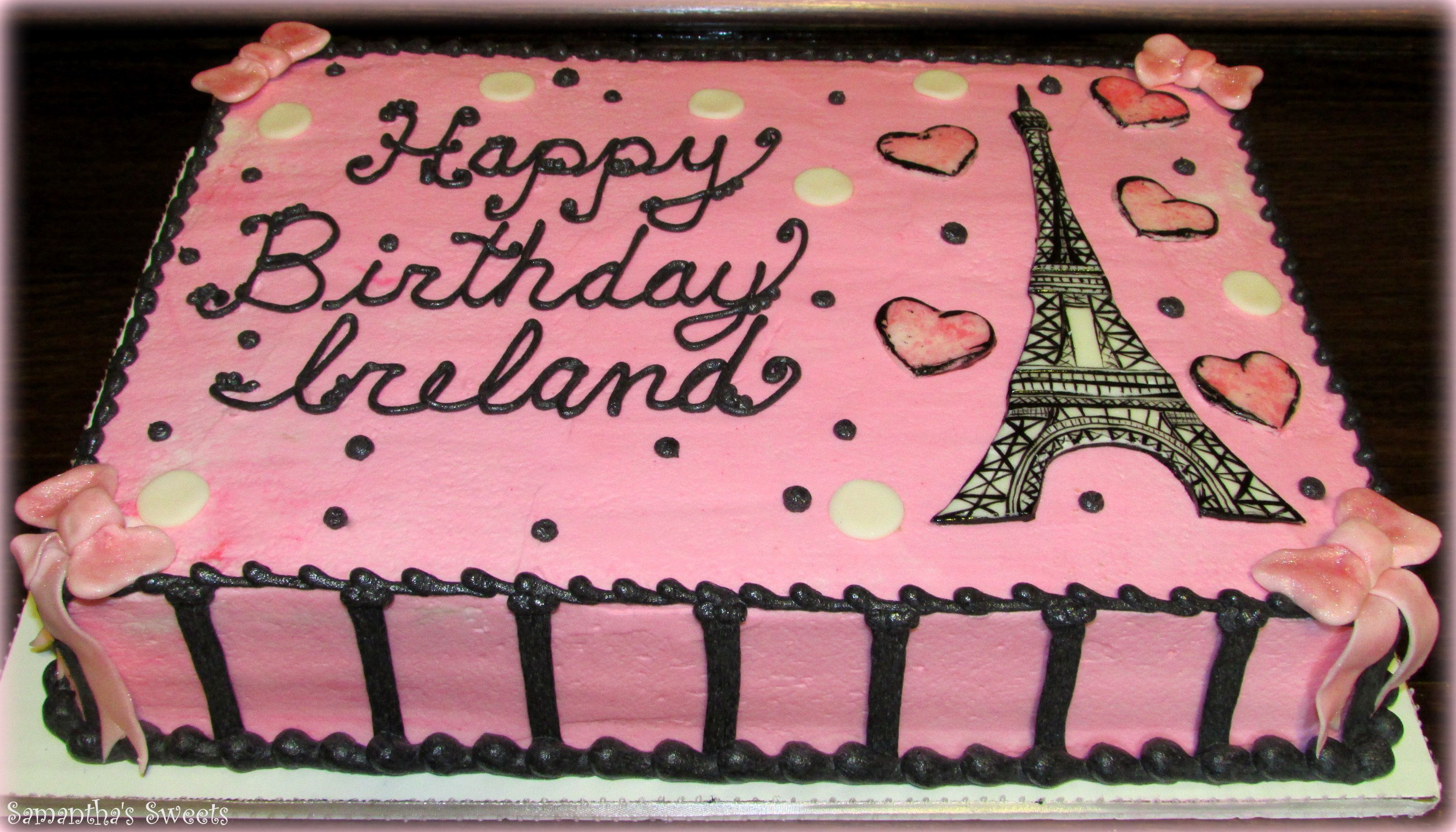 Paris Birthday Cake Paris Inspired Birthday Cake Wwwsamantha Sweets Paris Cake