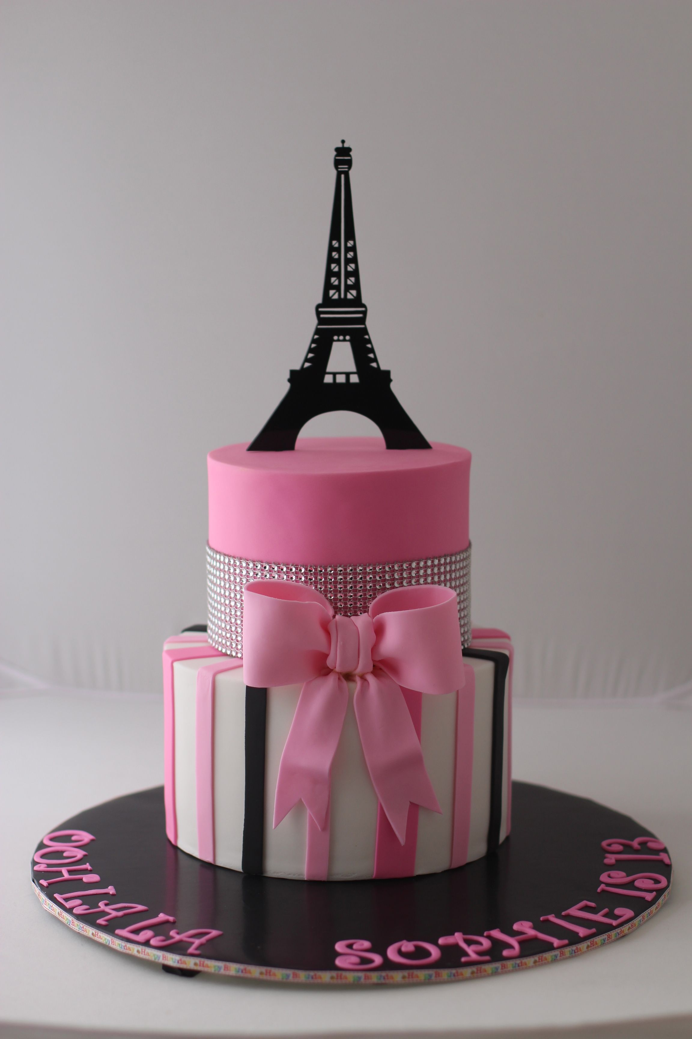 Paris Birthday Cake Paris Themed Birthday Cake For A 13 Year Old Girl Thanks For Pinning