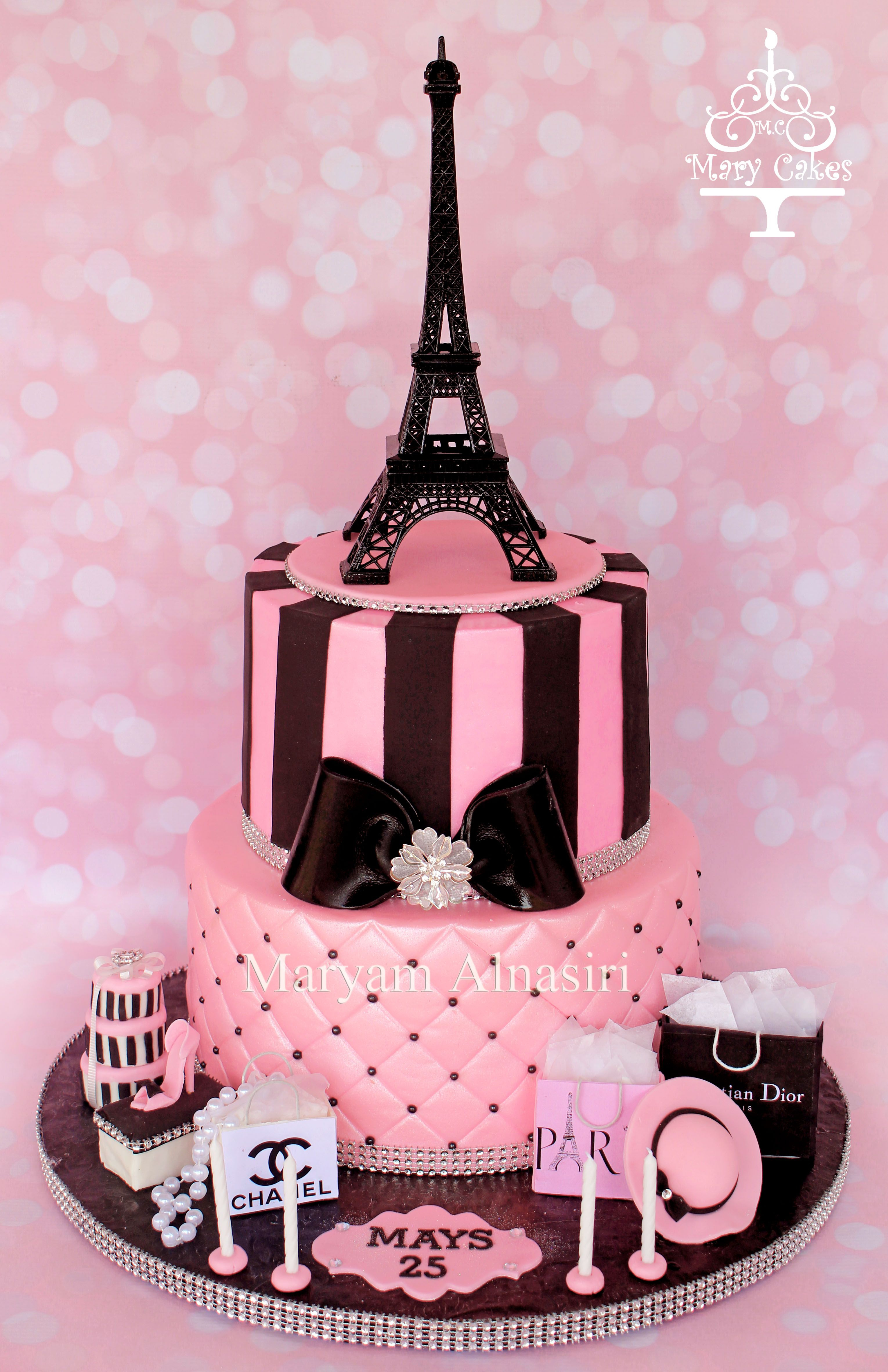 32+ Pretty Image of Paris Birthday Cake