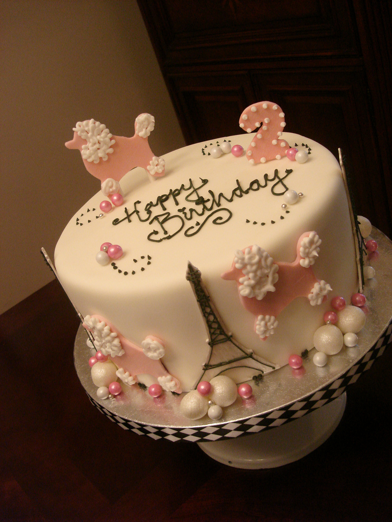 Paris Birthday Cake Pink Poodles In Paris Birthday Cake See More At Madelizas Flickr
