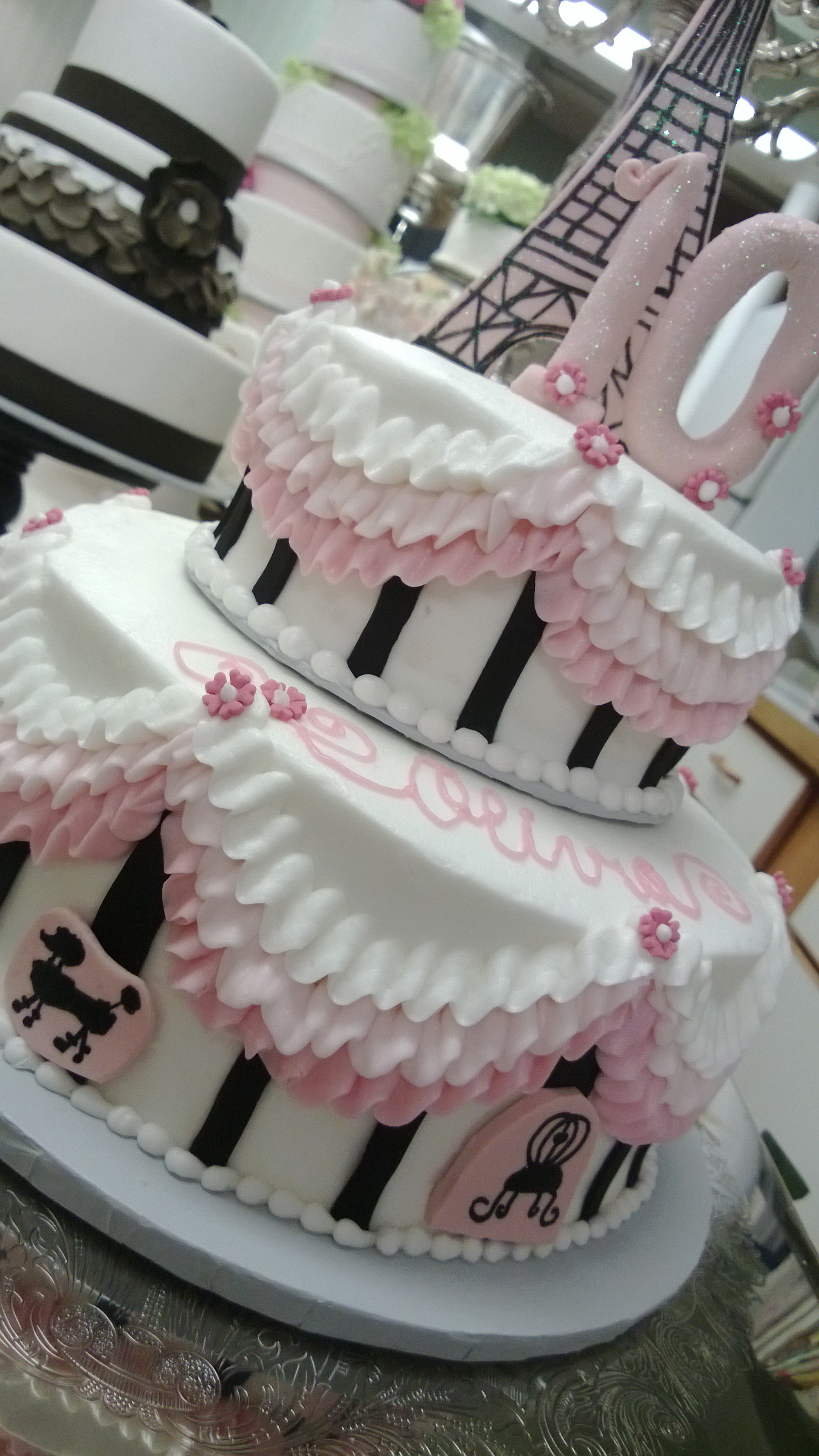 Paris Birthday Cakes Theme Cake Cakecentral Themed Sheet Hot Trending Now