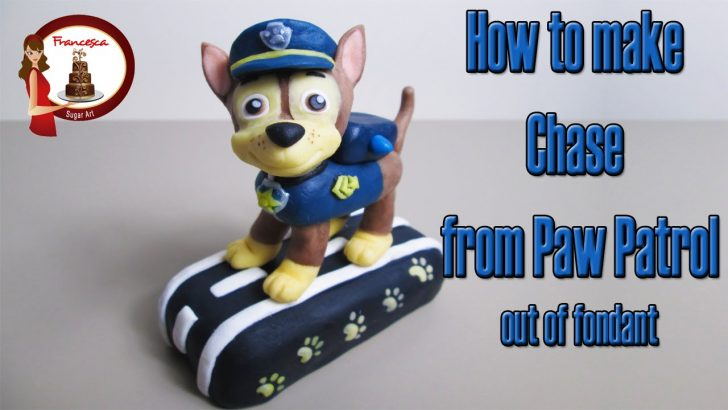 Paw Patrol Birthday Cake Toppers How To Make Chase From Paw Patrol Cake Topper Tutorial Youtube