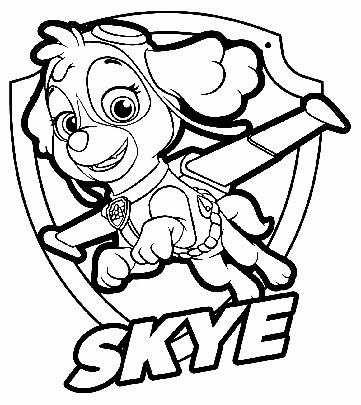 Paw Patrol Coloring Pages Paw Patrol Coloring Pages Sky At Getcolorings Free Printable