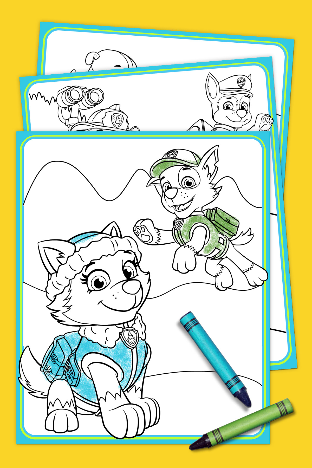 Paw Patrol Coloring Pages Paw Patrol Everest Coloring Pack Nickelodeon Parents