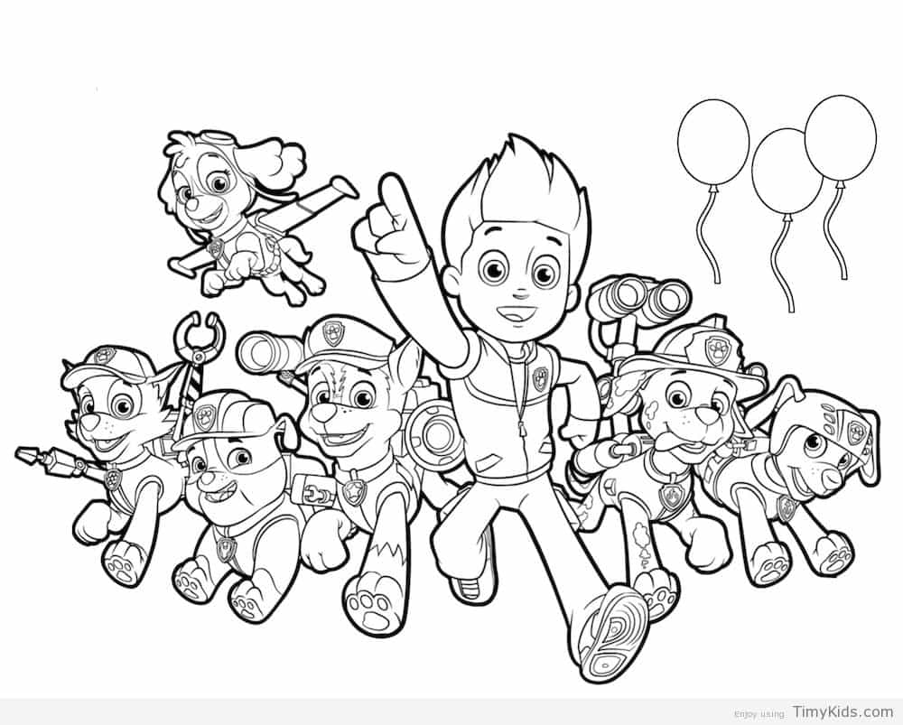 Paw Patrol Coloring Pages Paw Patrol Printable Coloring Pages Birthday 35 Print Color Craft