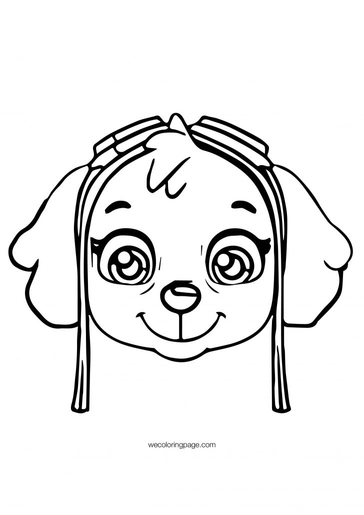 Paw Patrol Coloring Pages Paw Patrol Skye Face Patrol Coloring Page Wecoloringpage