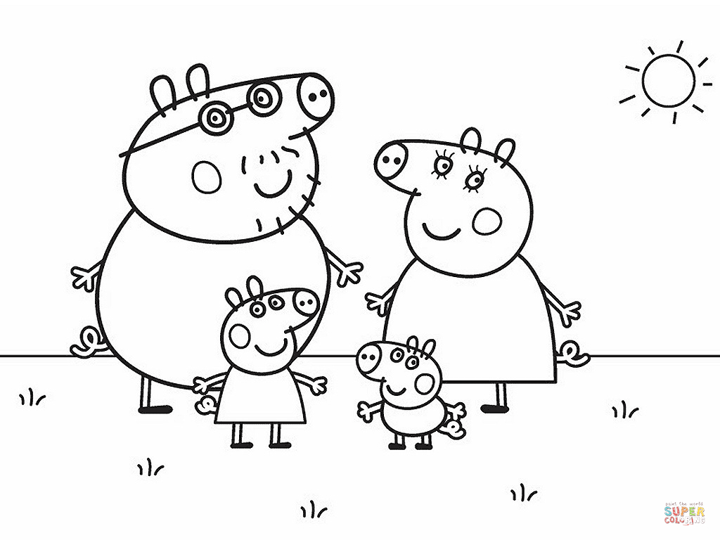 27+ Excellent Picture of Peppa Pig Printable Coloring Pages