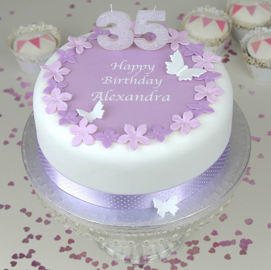 Picture Of Birthday Cakes Personalised Cake Topper Decorating Kit Clever Little