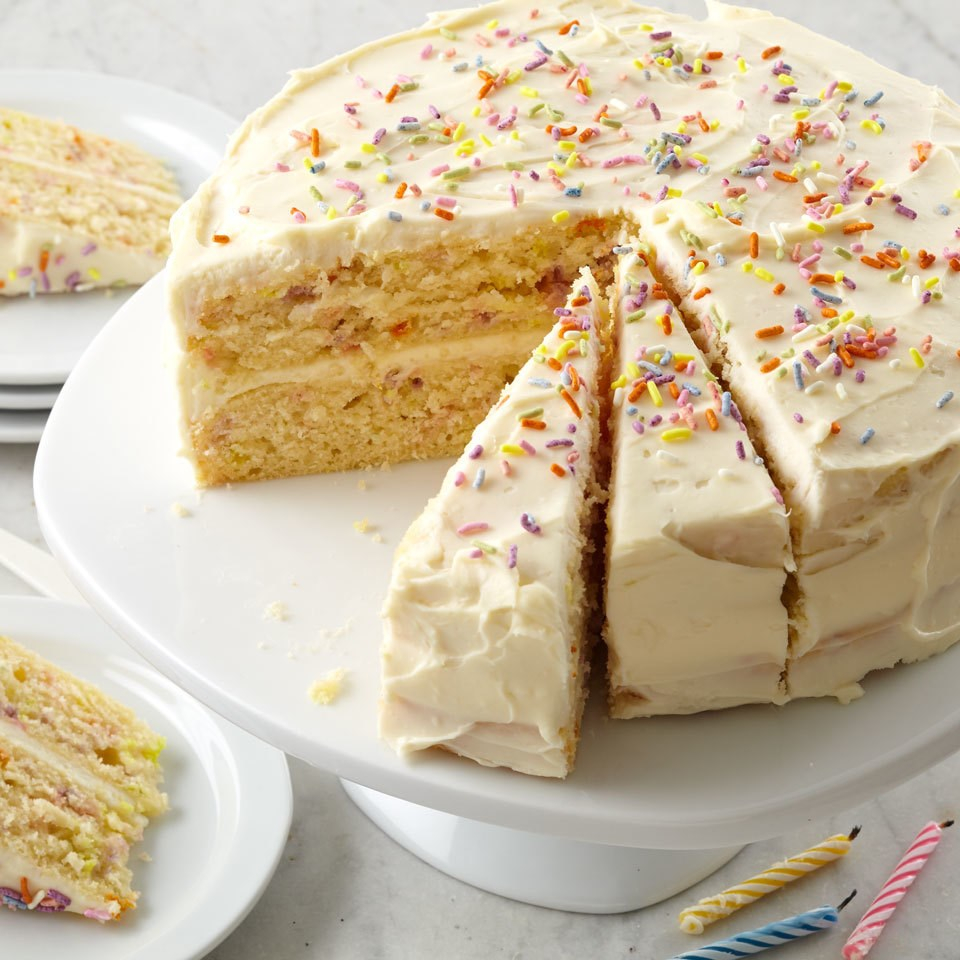 Pictures Of Birthday Cake Confetti Birthday Cake Recipe Eatingwell