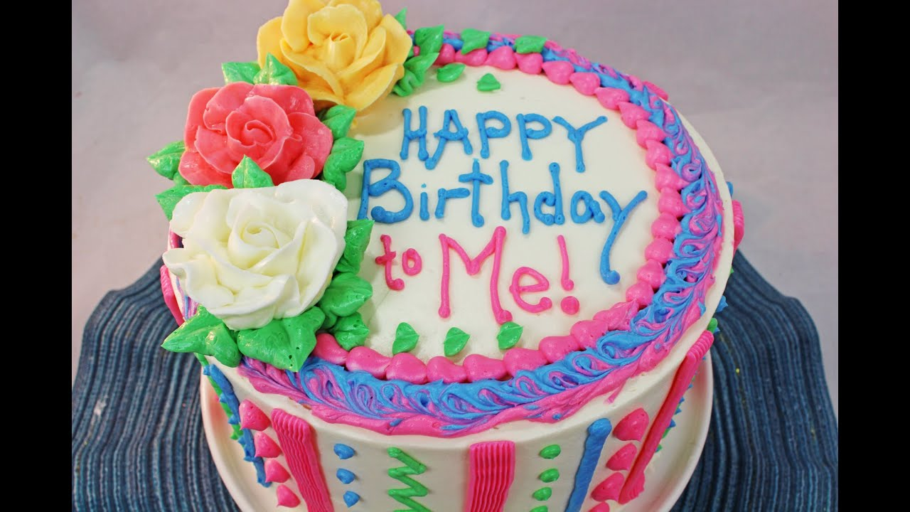 Pictures Of Birthday Cake How To Make A Birthday Cake Beginners Tutorial Youtube
