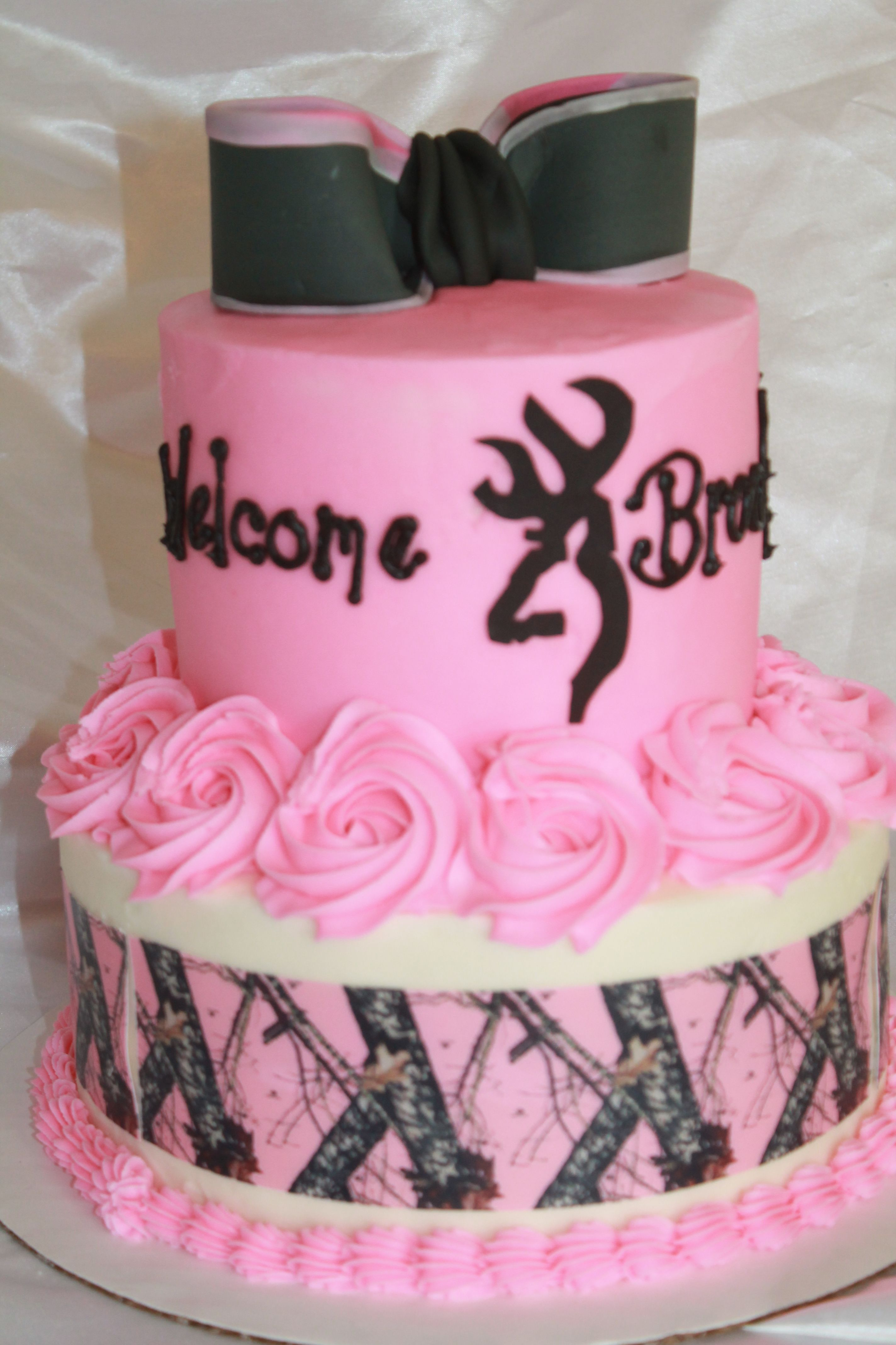 25+ Awesome Image of Pink Camo Birthday Cakes