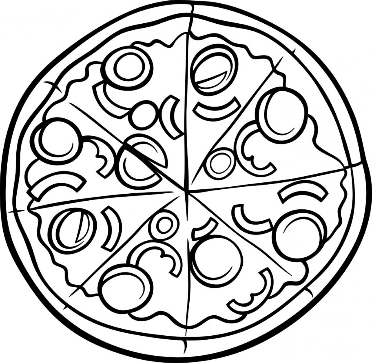 30+ Brilliant Photo of Pizza Coloring Pages